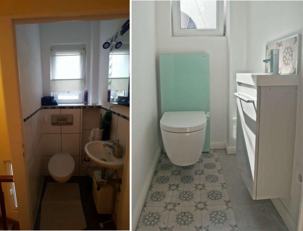 Gäste-WC, Bauen im Bestand
