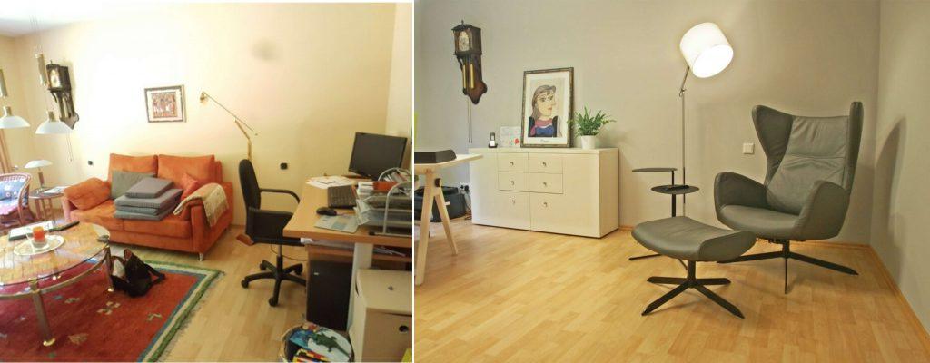 Sitzecke im Homeoffice, Innenarchitektur Yvette Sillo Einrichtungsideen